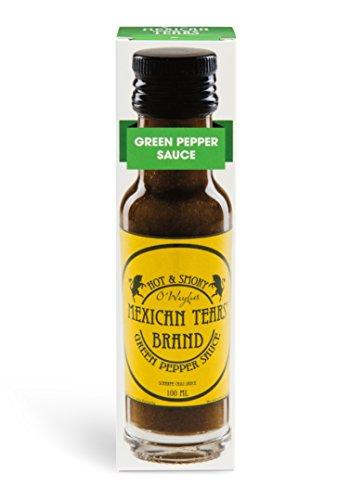 Mexican Tears® - Green Pepper Sauce, scharfe Sauce aus Chili & Meersalz, perfekt als Grill-Zubehör für BBQ Sauce, Pulled Pork & zum Aufpeppen von Pizza [100ml Chilisauce] (Bbq-sauce-pulver)