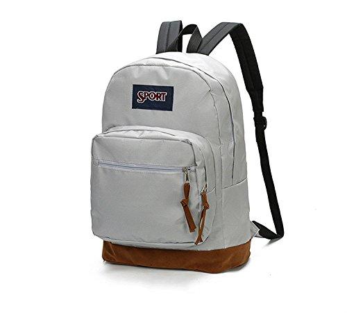 Ruiio tela Leisure sport all' aria aperta arrampicata borsa a tracolla studente zaino zainetto con tasca portaoggetti, Green Beige White