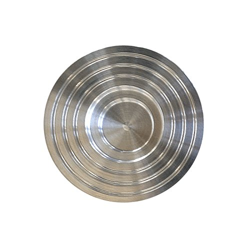 AMABIENTE - Designcandles Rainbow Kerzenhalter RL6 für Rondo + LUMINO, Aluminium, Silber, 9 x 9 x 2 cm, 6-Einheiten