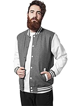 MAG Urban Classics TB201Oldschool College Jacket Chaqueta Hombre Streetwear Jacken, gris, Small