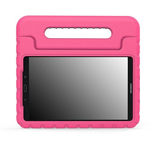 MoKo Samsung Galaxy Tab A 10.1, Funda Ligera y super protectiva, diseñado especialmente para los niños, Magenta