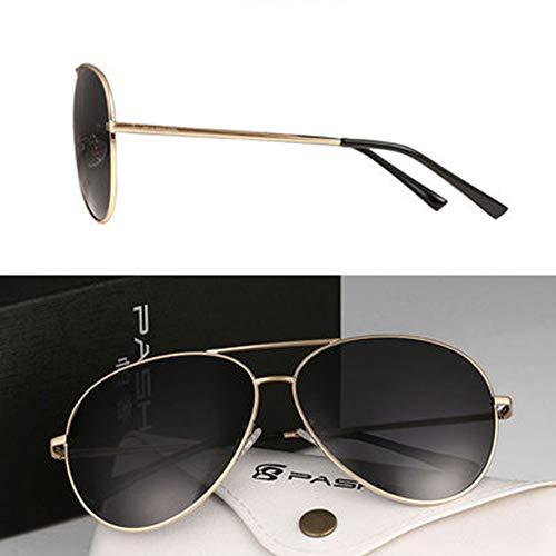 LKVNHP 155Mm Mode Polarisierte Sonnenbrille Für Mann Frauen Fahren Übergroße Sonnenbrille Polaroid Sonnenbrille FrauenGold Rahmen