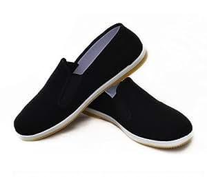 M.A.R International Kung Fu Shoes Rubber Sole Slippers Martial Arts Gear Wu Shu Wing Chun Tai Chi Black Size 38