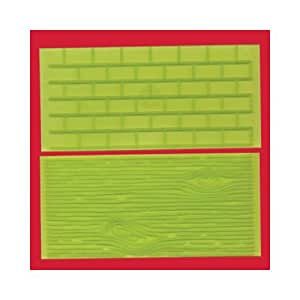 FMM Tree Bark & Brick Wall Impression Mats Sugarcraft
