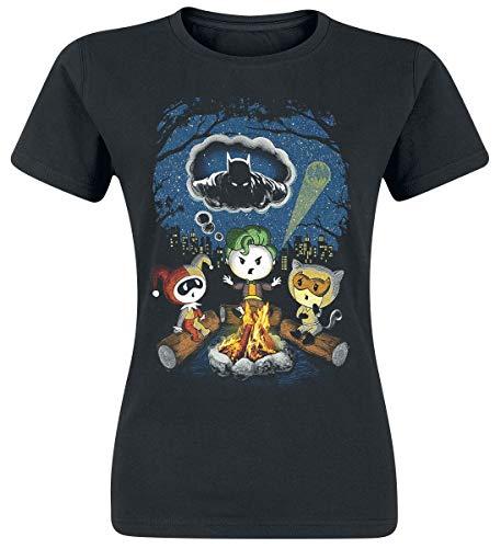 DC Villains Camp Fire T-Shirt Nero L
