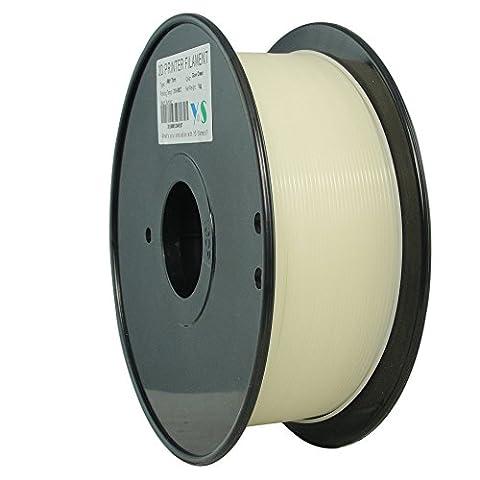 YS Filament ys-1.75-pla-glow-gn-1000ys sans nœuds 3D, Pla Filament 1,75mm, 1kg,