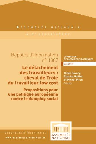 Rapport d'information sur la proposition de directive relative à l'exécution de la directive sur le détachement des travailleurs