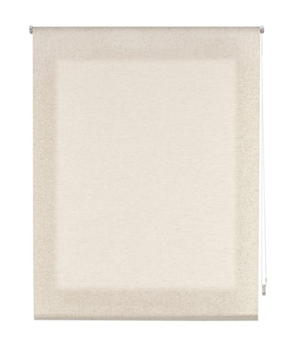 Uniestor Natural Lino Estor Enrollable, Tela, Beige, 160x200 cm