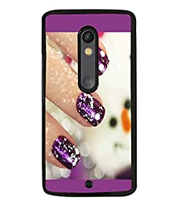 printtech Nail Paint Back Case Cover for Motorola Moto X Style