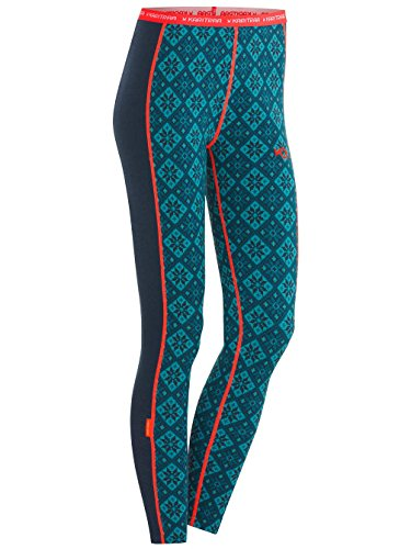 Kari Traa Rose W Leggins tight lana merino blu navy