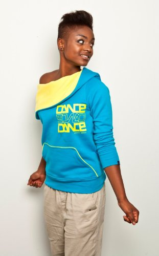 Urban Dance Damen Pullover Big Cap Fleece blue