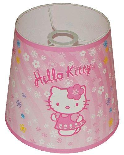 Unbekannt Lampenschirm Hello Kitty für Deckenlampe / Hängelampe / Stehlampe - für Kinder Kinderzimmer Kinderlampe Leuchte Kätzchen Katze rosa Tischlampe