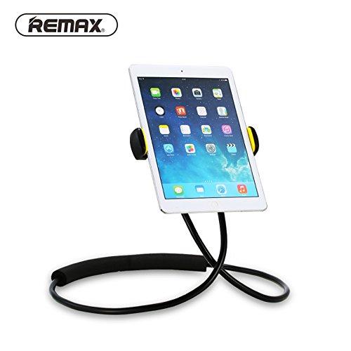 Hals zum Aufhängen Lazy Halterung für 10,2cm zu 25,4cm Smart Handy Tablet iPad Air Mini Oberfläche Remax Taille Hanging Ständer Halterung 360Grad verstellbaren Rotation Metall Tube (schwarz) -