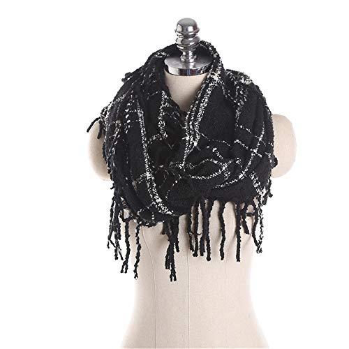 Easy Go Shopping New Vintage Gitter Quaste Womens Soft Feel Shawls Wraps große Lange Winter Schal Lätzchen (Farbe : 03) - Womens Quaste