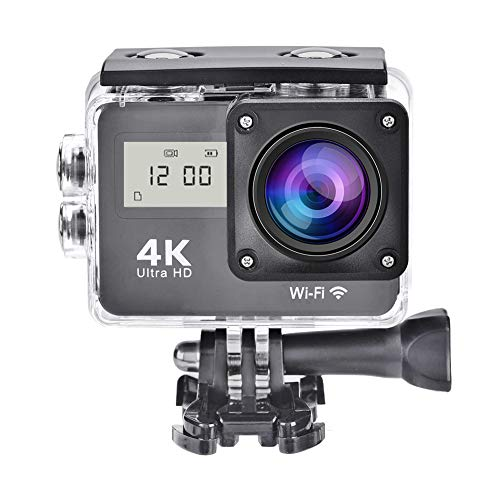 Price comparison product image Zunate 4K Action Camera, Ultra HD 1080P Wifi Sport Camera Waterproof Cam Underwater DV Camcoder with Remote Control, Continuous Shot / 130º High Resolution Wide Angle / 2.0 LTPS LCD Screen / Some accessories