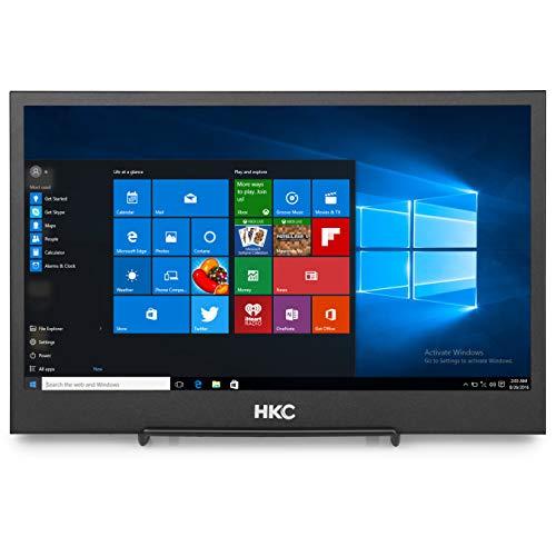 HKC MR12S: 31,75 cm (12 Zoll) Ultra-kompakter LED-Flatscreen-Monitor für Videoüberwachung (Full HD 1920 x 1080, 2X HDMI, 60 Hz), schwarz (Zoll Hdmi-monitor 12)