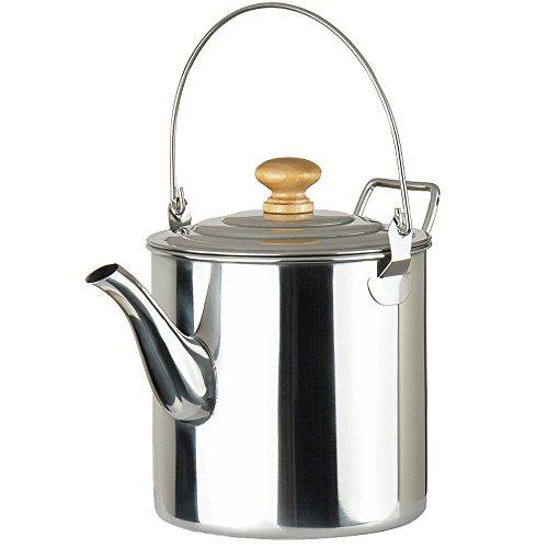 Lixada 2000ml Camping Pot Außen Edelstahl Teekessel Kaffee Kanne