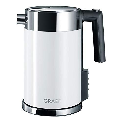 Graef Edelstahl Wasserkocher WK 702 mit Temperatureinstellung / Handbrüh-Taste für Filterkaffee / Edelstahl-Acryl…