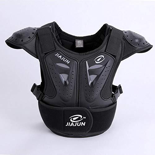 ALZHP Bambini Motocross Giacca, Moto Protezione, Spina Dorsale Protezione Professionale, per Motocross, Motociclismo, Mountain Bike, Skateboard E Snowboard,S