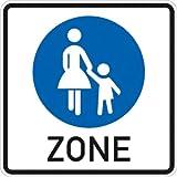 Verkehrszeichen VZ242.1, Beginn einer Fußgängerzone, Alu, RA1, 42x42cm Verkehrsschild