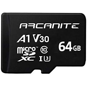 ARCANITE - Tarjeta de memoria microSDXC de 64 GB con adaptador, UHS-I U3, A1, V30, 4K, Clase 10, Micro SD - AKV30A164
