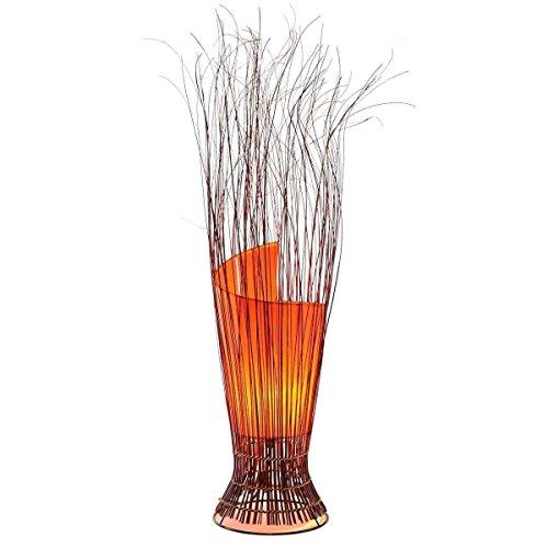Deko-Leuchte Stimmungsleuchte Stehleuchte Tischleuchte Tischlampe Bali Asia Zweige 80 cm Color Orange