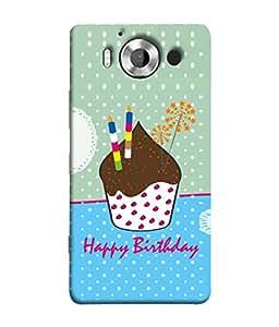 PrintVisa Designer Back Case Cover for Microsoft Lumia 950 :: Nokia Lumia 950 (Cute Greeting Card Happy Frame Gift Colors Illustration)