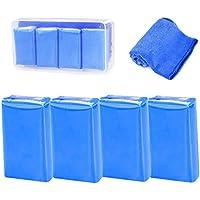 Tian 4 Pack 100g Barra de Arcilla Auto Car Mágica Clay Bar Detailing Limpiador Kit con Toalla de limpieza del Coche para Camiones Lavado de vehículos Detailing Clean (Azul)