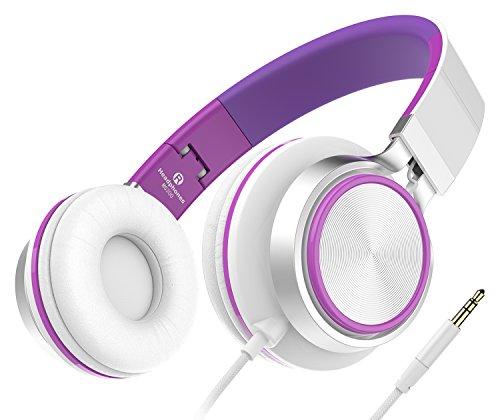 Sound Intone MS200, faltbarer On-Ear Hi-Fi Kopfhörer, 3.5mm Klinkenstecker(Weiß/Violett) Sony Wireless-hi-fi