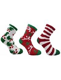 Lot 3 paire Chaussettes fantaisie à motif Noël 37-42 Femme