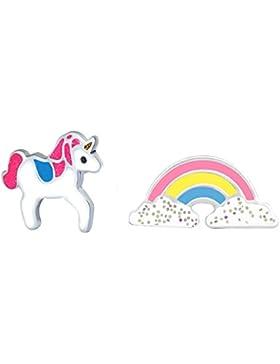 SL-Silver Kinder Ohrringe Regenb