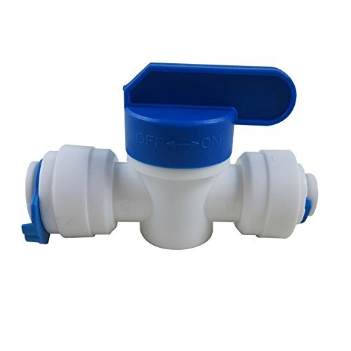 Shut-off Ball Valve (TmallTech 3/8x1/4 Tube Ball Valve Quick Connect Shut Off for RO Water Reverse Osmosis by TmallTech)