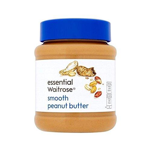 Le Beurre D'Arachide Crémeux Waitrose Essentielle 340G - Paquet de 4