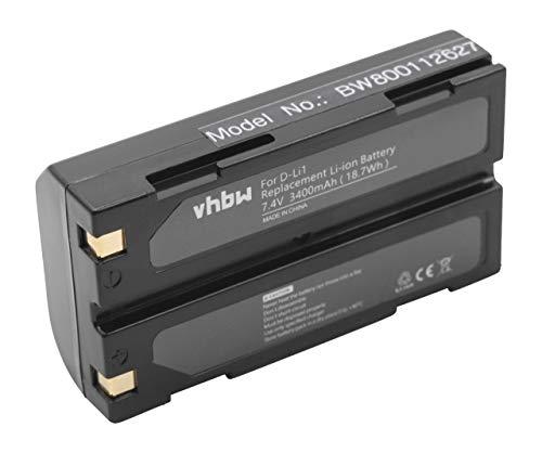vhbw Li-Ion Akku 3400mAh (7.4V) für Barcodescanner Spectralink Epoch 35 wie D-Li1, C8872A Spectralink Batterie Pack