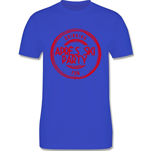 Après Ski - Après Ski Stempel Badge - Herren Premium T-Shirt Royalblau