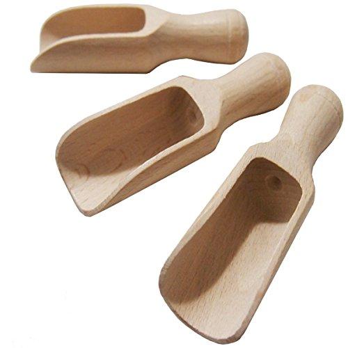 Db C2 Set de palas de servir de madera, 8 cm, 3 unidades