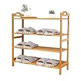 QINCH Home Schuhregal aus rotem Bambus Schlichter Schuhschrank Kreativer Schuhregal mit hoher Kapazität und Mehreren Ebenen (Color : Orange, Size : 4)