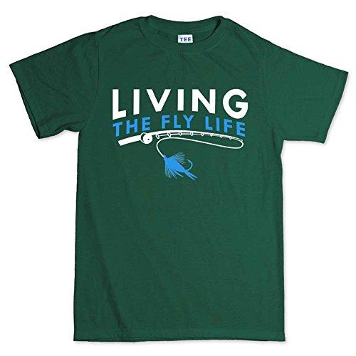 The Fly Life Fishing T-shirt DunkelGrŸn