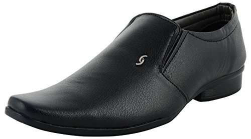 DECENT Men's Black Loafers-9 UK/India (43 EU)(10)
