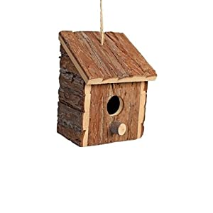 Heritage 20833 Rustic Round Wooden Nesting Nest Box Bird House Small Birds Blue Tit Robin Sparrow