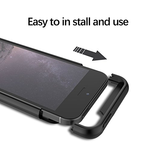 Cover Batteria per iPhone SE/5s/5c 4000mAh Custodia Ricaricabile
