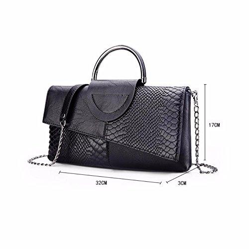 le donne sono clutch bag, grandi capacità spalla borsa, new wild borsa,bianco e nero, colori black