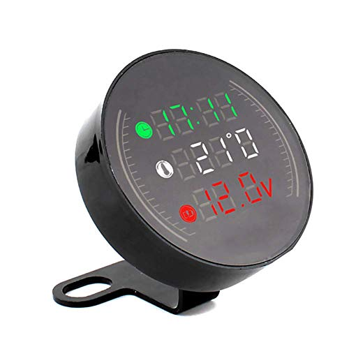 MiaLian 1 Pieza de Reloj Digital LED de Motocicleta termómetro de Voltaje...