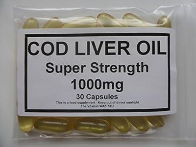 The Vitamin Cod Liver Oil 1000mg (30 Capsules - Bagged)
