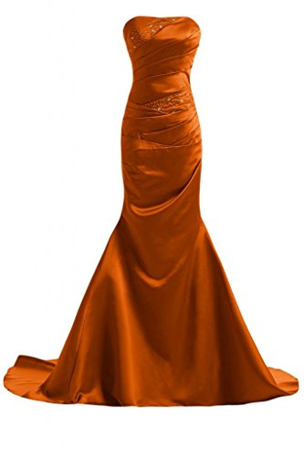 Sunvary Bella sirena abito da sera lungo Pageant-Costume da ufficiale, Donna Orange