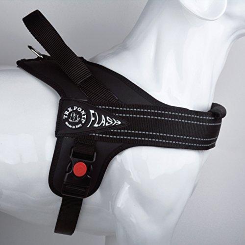 Tre Ponti - Flash - Pechera de color negro con borde reflectante...