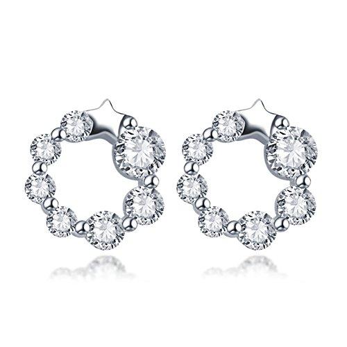 temperamento di orecchini moda ladies/Joker stars i fiocchi di neve bella Stud Earrings/ moda orecchini (Swarovski Crystal Fiocchi Di Neve)