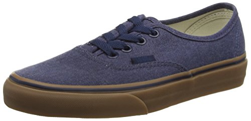 Vans Authentic Scarpe da Ginnastica Basse Unisex Adulto Blu (Washed Canvas/Dress Blues/Gum)