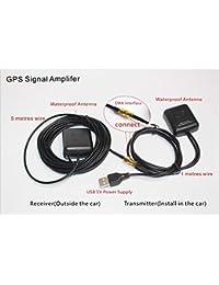 Auto GPS Antena remota Activa Amplificador de señal GPS Receptor Transmisor Conexión USB Amplificación de la señal GPS para el Sistema de navegación