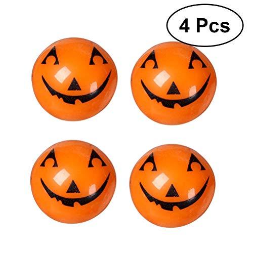 WMING Home LED-Fingerlichter Halloween blinkende Fingerlichter Blinkender Kürbis-Ring Halloween-Kürbis-Spielzeug, Packung mit 4 (Kürbis-Stil) (Ziehen Zu Halloween-kürbisse)
